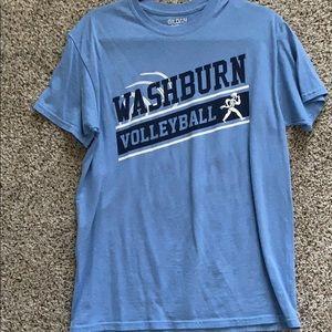 blue washburn volleyball tshirt